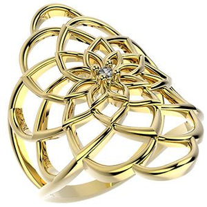 14342 18K Gold Layered CZ Ring