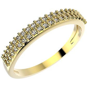 14350 18K Gold Layered CZ Ring