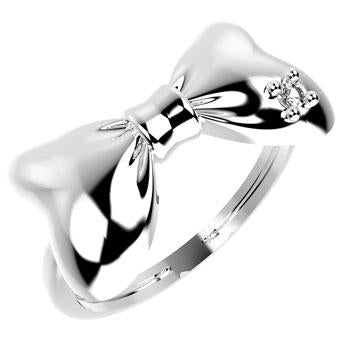 19024P CZ 925 Silver Kid's Ring