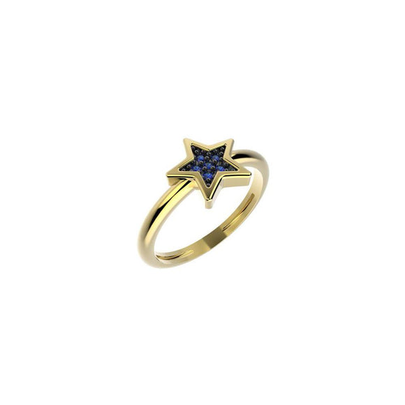 19045 18K Gold Layered CZ Kid's Ring