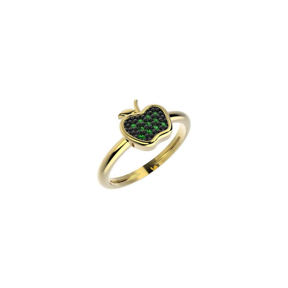 19046 18K Gold Layered CZ Kid's Ring