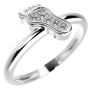 19048P CZ 925 Silver Kid's Ring