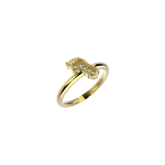 19048 18K Gold Layered CZ Kid's Ring
