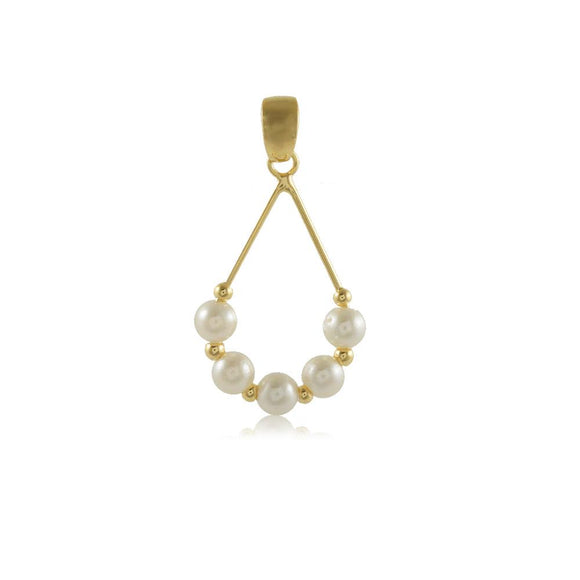 20024R 18K Gold Layered Pendant Pearl