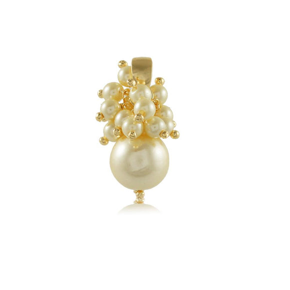 20049R 18K Gold Layered Pendant Pearl