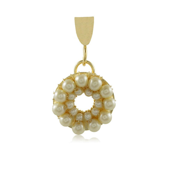 20055R 18K Gold Layered Pendant Pearl
