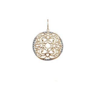 21489v 18K Gold Layered CZ Pendant