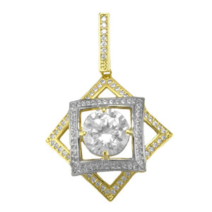 21780 18K Gold Layered CZ Pendant