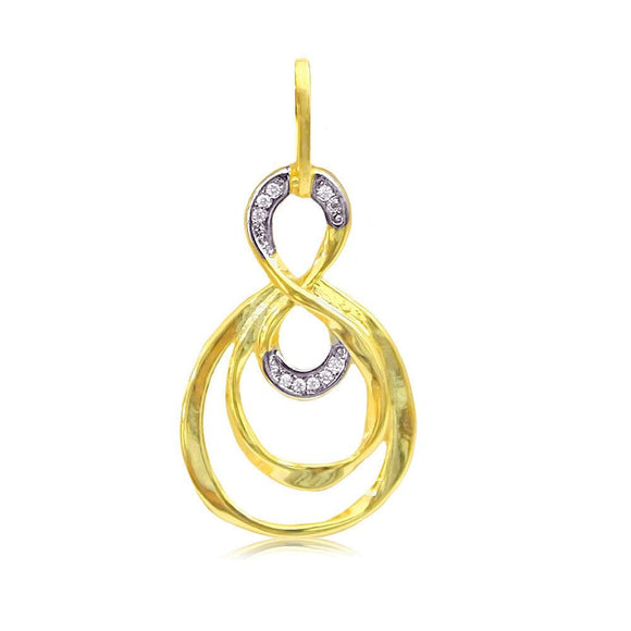 22216 18K Gold Layered CZ Pendant