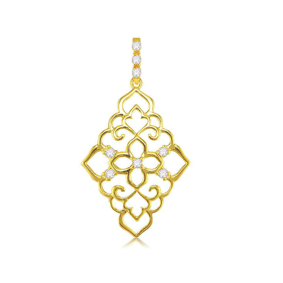 22251 18K Gold Layered CZ Pendant