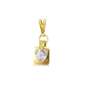 27344 18K Gold Layered Kid's CZ Pendant