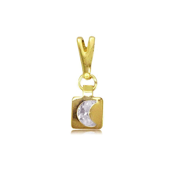 27346 18K Gold Layered Kid's CZ Pendant
