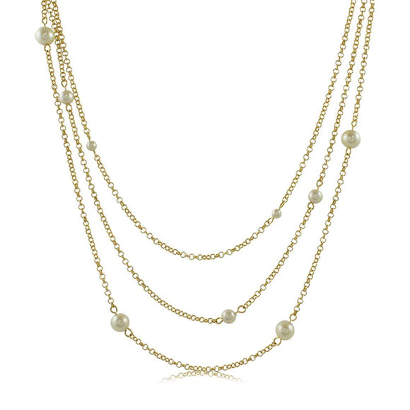 30118R 18K Gold Layered Necklace 60cm/24in