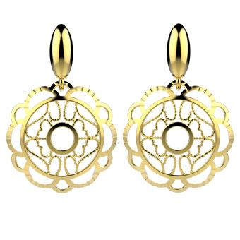 30374 18K Gold Layered Earring