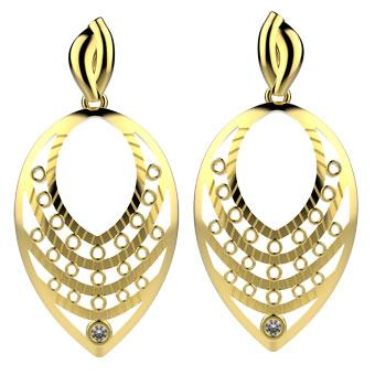 30380 18K Gold Layered CZ Earring
