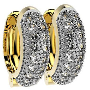 30728 18K Gold Layered CZ Earring