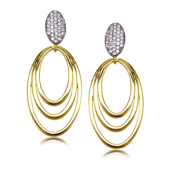 30779 18K Gold Layered CZ Earring