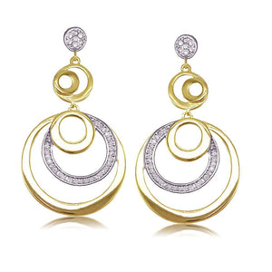 30872 18K Gold Layered CZ Earring