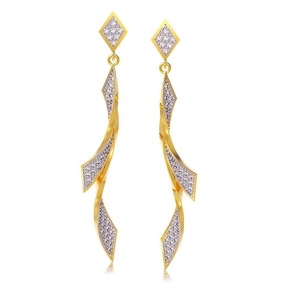 30908 18K Gold Layered CZ Earring
