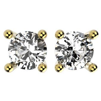 30928 18K Gold Layered CZ Earring