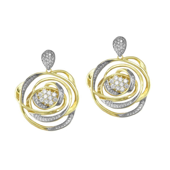 30954 18K Gold Layered CZ Earring