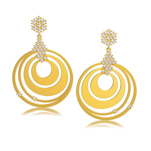 30975 18K Gold Layered CZ Earring