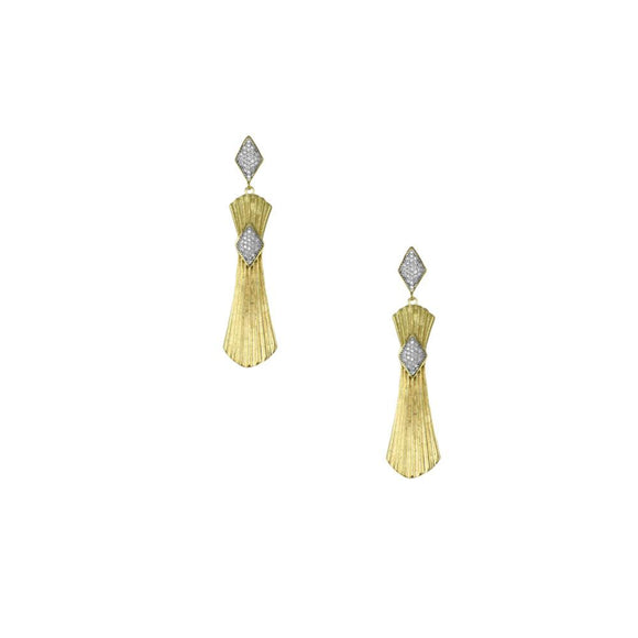 31013 18K Gold Layered CZ Earring