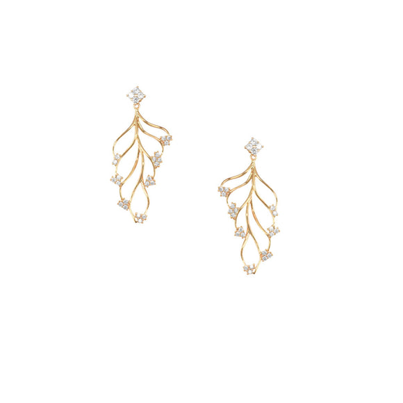 31018v 18K Gold Layered Earring Rose Gold