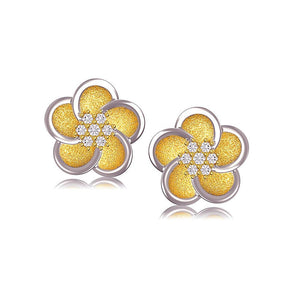 31040 18K Gold Layered CZ Earring