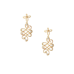 31080v 18K Gold Layered Earring Rose Gold
