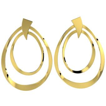 31199 18K Gold Layered Earring