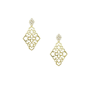 31262 18K Gold Layered CZ Earring