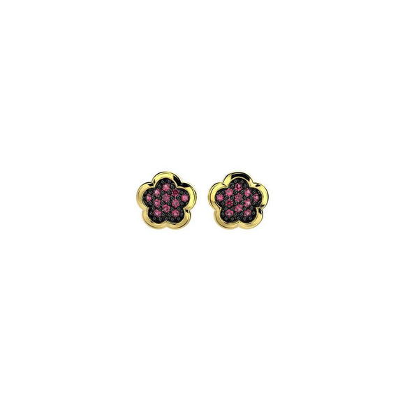 31271 18K Gold Layered CZ Earring