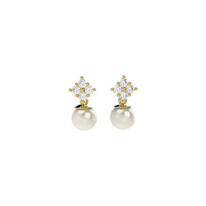 31312 18K Gold Layered Pearl Earring