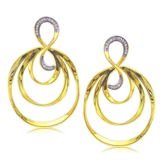 31752 18K Gold Layered CZ Earring