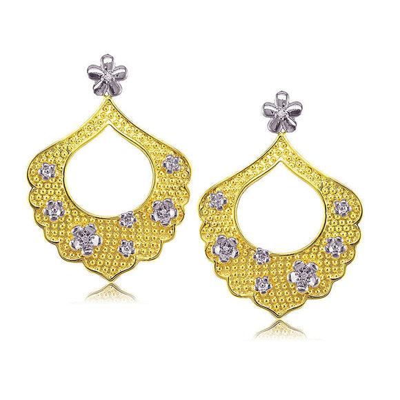 31772 18K Gold Layered CZ Earring