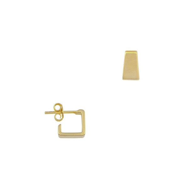 35001 18K Gold Layered Hoop Earring