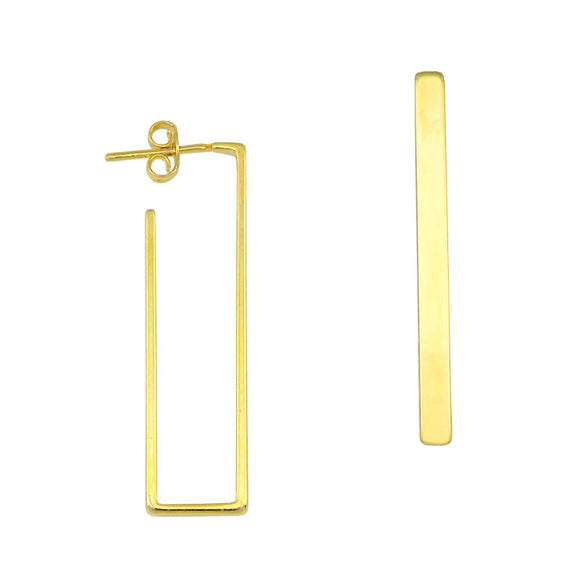 35002 18K Gold Layered Hoop Earring