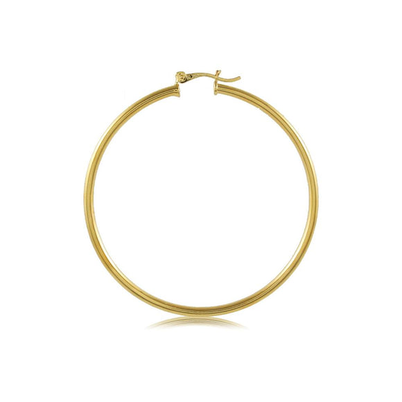 35404 18K Gold Layered Hoop Earring