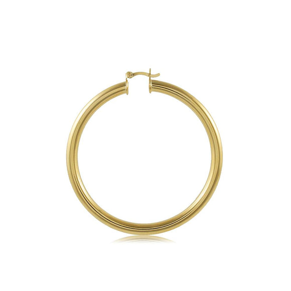 35415 18K Gold Layered Hoop Earring