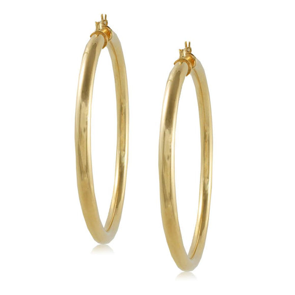 35418 18K Gold Layered Hoop Earring