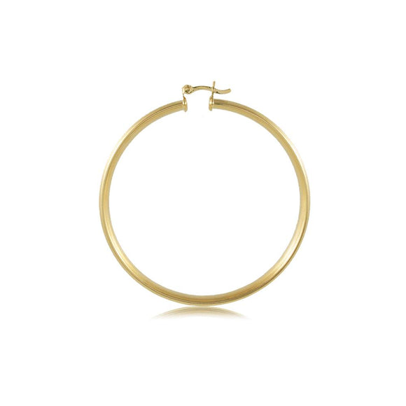 35468 18K Gold Layered Hoop Earring