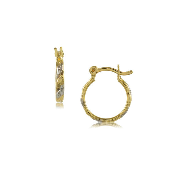 35621 18K Gold Layered Hoop Earring