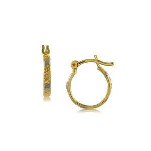 35622 18K Gold Layered Hoop Earring