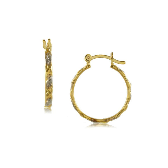 35623 18K Gold Layered Hoop Earring