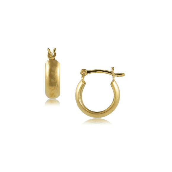 35627 18K Gold Layered Hoop Earring