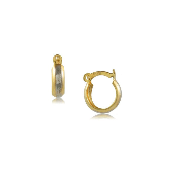 35637 18K Gold Layered Hoop Earring