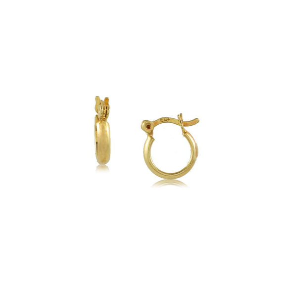 35672 18K Gold Layered Hoop Earring