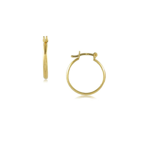 35675 18K Gold Layered Hoop Earring