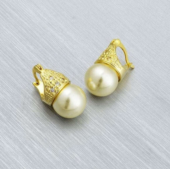 36097 18K Gold Layered Earring